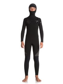5 4 3mm Syncro Series - Hooded Chest Zip GBS Wetsuit for Boys 8 8d820445f39