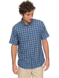 Waterman Wake Plaid 2 - Technical Short Sleeve Shirt for Men  EQMWT03123