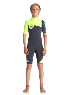 2/2mm Highline Series - Zipperless Short Sleeve Springsuit for Boys 8-16  EQBW503006
