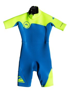 2/2mm Syncro Series - Short Sleeve Back Zip FLT Springsuit for Boys 2-7  EQKW503000
