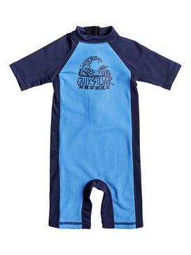 Thermo Spring - Short Sleeve One-Piece UPF 50 Rashguard for Boys 2-7  EQKWR03022