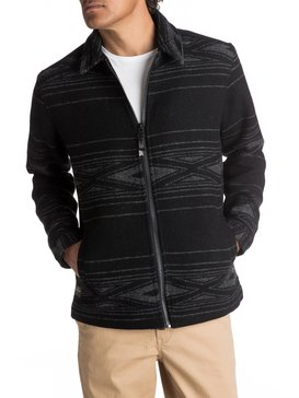 Waterman Salina Cruz - Zip-Up Wool Jacket for Men  EQMJK03002
