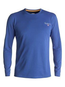Waterman Gut Check - Amphibian Long Sleeve UPF 40 Surf T-Shirt  EQMWR03019