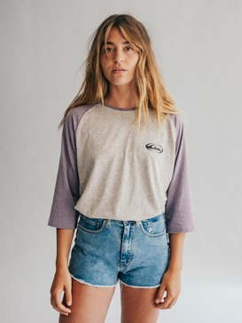 Quiksilver Womens - High Waist Denim Shorts  EQWDS03000