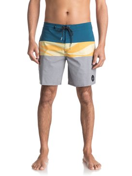 "Heatwave Blocked 18"" - Beachshorts for Men  EQYBS03771"