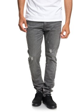 Low Bridge Grey Damaged - Slim Fit Drop Crotch Jeans  EQYDP03371