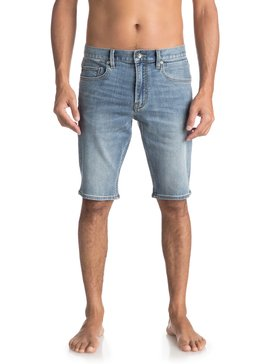 Revolver Surf Blue - Technical Denim Shorts for Men  EQYDS03077