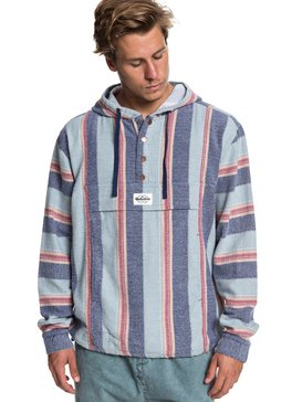 Neo Blue - Flannel Hoodie for Men  EQYJK03465