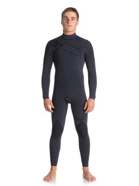 4/3mm Quiksilver Originals Monochrome - Chest Zip Wetsuit for Men  EQYW103052