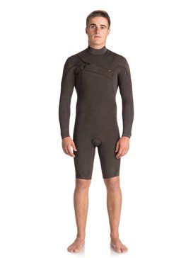2/2mm Quiksilver Originals Monochrome - Chest Zip Long Sleeve Springsuit  EQYW403008