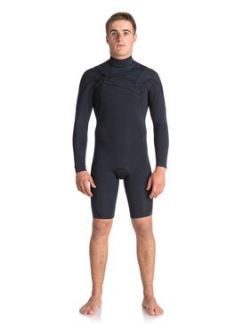 2/2mm Quiksilver Originals Monochrome - Chest Zip Long Sleeve Springsuit for Men  EQYW403008