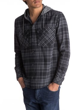 Snap Up Flannel - Long Sleeve Hooded Shirt for Men  EQYWT03578