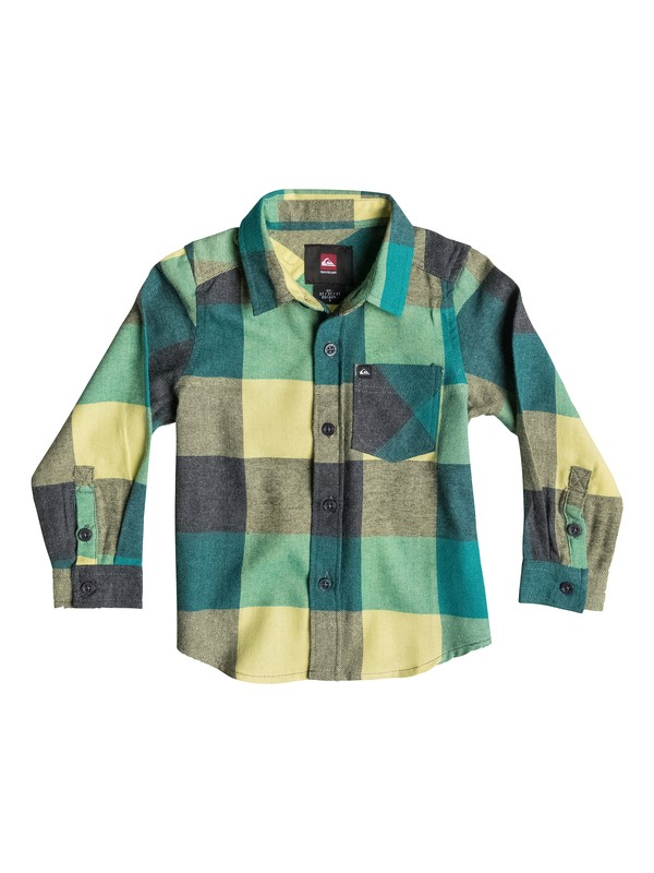 0 Toddler Box Plaid Long Sleeve Shirt  40444036 Quiksilver