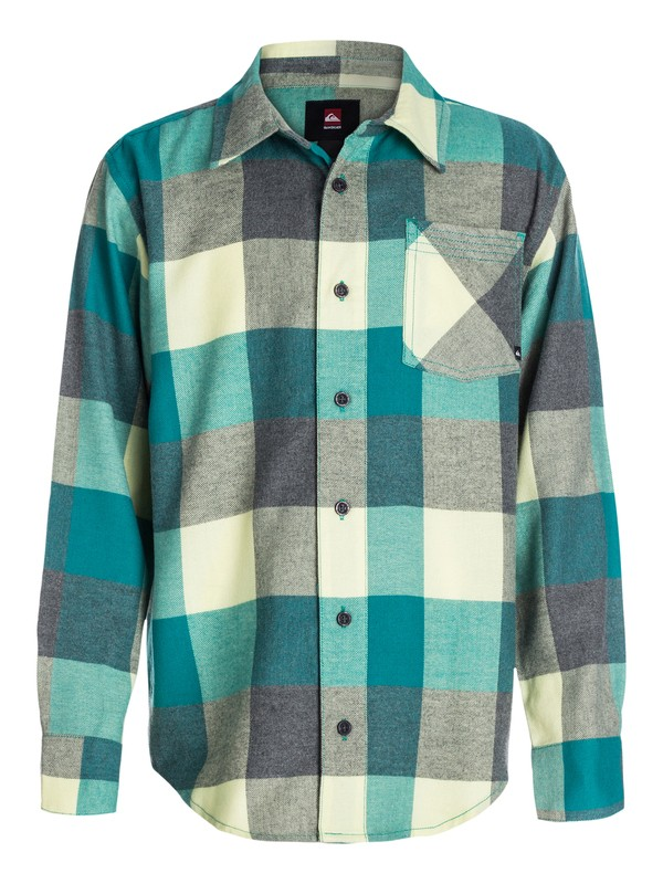 0 Boys 8-16 Box Plaid Long Sleeve Shirt  40464036 Quiksilver