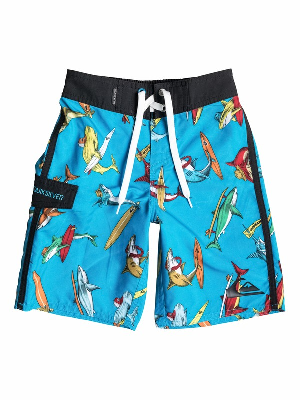 0 Boys 2-4 Shark Surf Boardshorts  40545102 Quiksilver