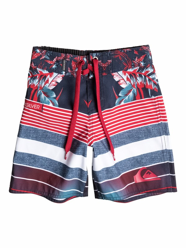 0 Boys 4-7 YG Remix Stripe Boardshorts  40555082 Quiksilver