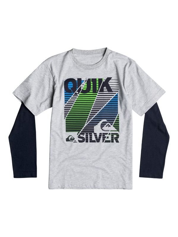 0 Boys 4-7 All Broked Up Long Sleeve T-Shirt  40654239 Quiksilver