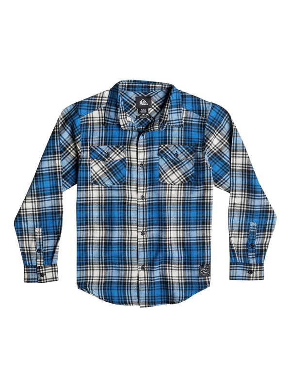 0 Boys 8-16 Everyday Flannel Long Sleeve Shirt  40664028 Quiksilver
