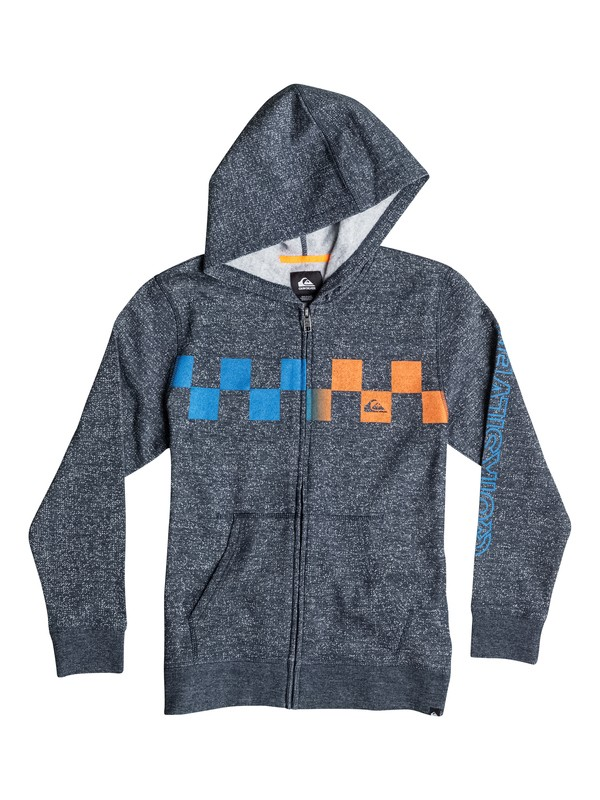 0 Boys 8-16 Checked Out Marled Zip Sweatshirt  40664040 Quiksilver