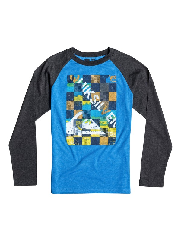 0 Boys 8-16 Checky Long Sleeve Tee  40664051 Quiksilver