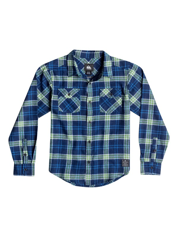 0 Boys 8-16 Everyday Flannel Long Sleeve Shirt  40664135 Quiksilver