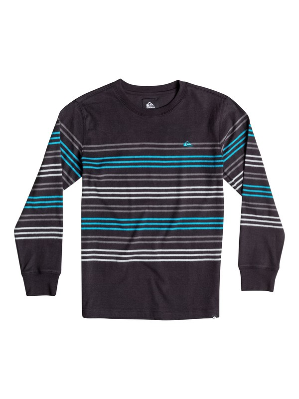 0 Boys 8-16 Snit Crew Stripe Long Sleeve T-Shirt  40664158 Quiksilver