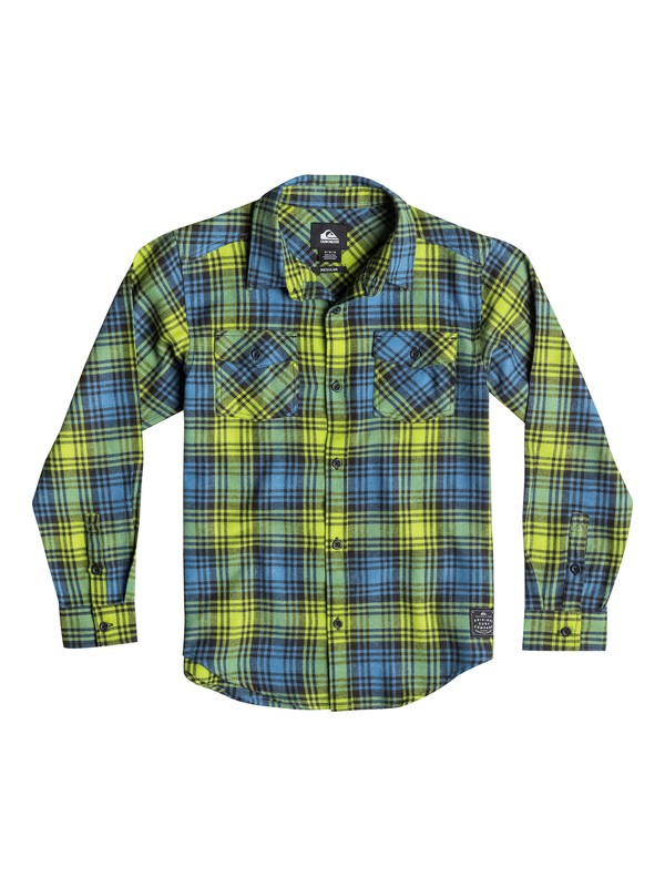 0 Baby Everyday Long Sleeve Checked Flannel Shirt  40674028 Quiksilver