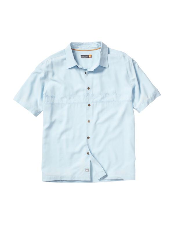 0 Men's Tahiti Palms Short Sleeve Shirt  509834 Quiksilver