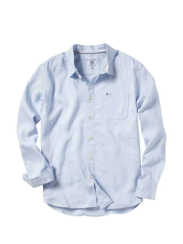 0 Men's Burgess Bay Long Sleeve Shirt  509855 Quiksilver