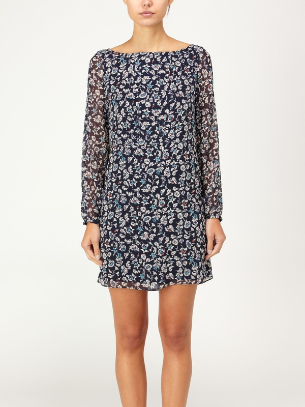 0 QSW Blue Stone Floral Dress  875238 Quiksilver
