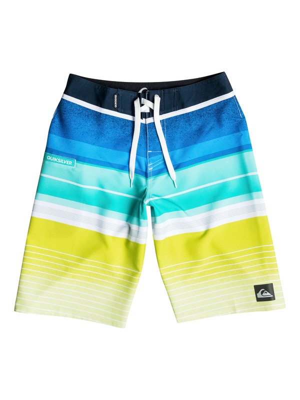 "0 Boy's 8-16 Everyday Stripe 19"" Boardshorts  AQBBS03055 Quiksilver"