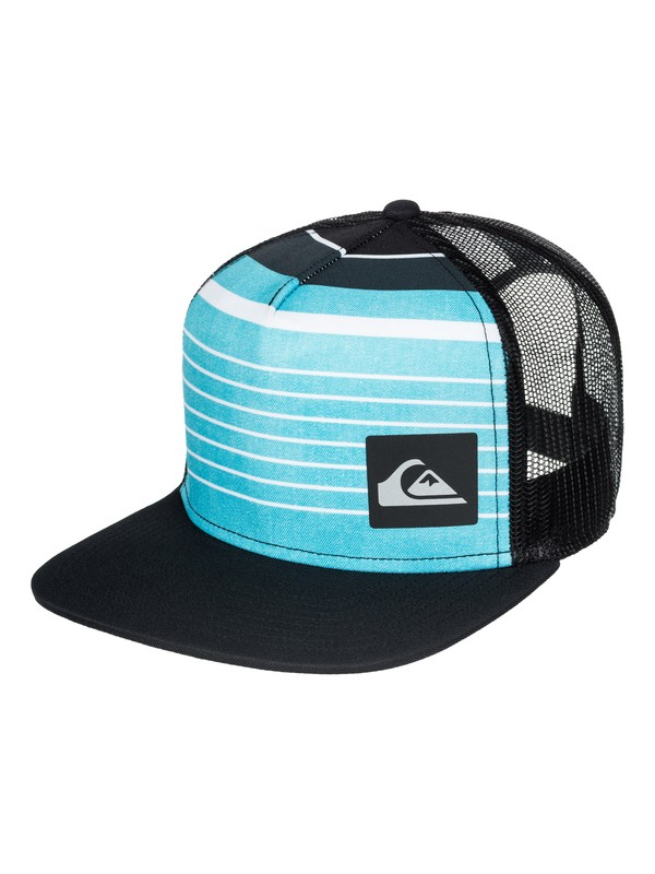 0 Boys 8-16 Vertical Printed Trucker Hat  AQBHA03098 Quiksilver