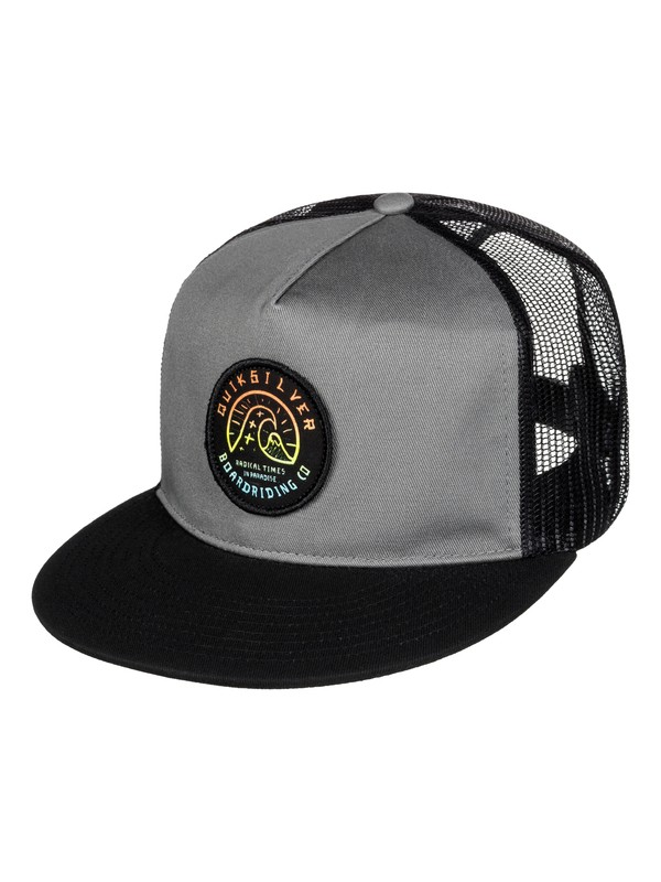 0 Boy's 8-16 Concentrated Trucker Hat  AQBHA03175 Quiksilver