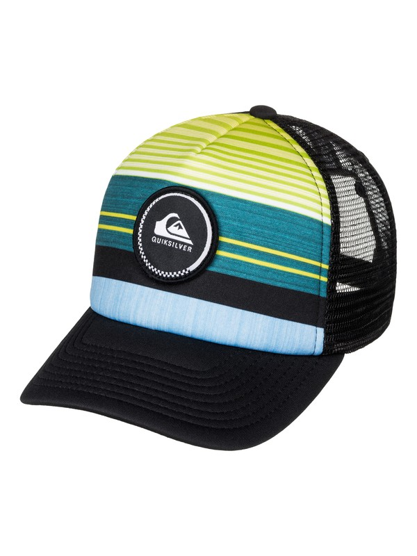 0 Boy's 8-16 Striped Vee Trucker Hat  AQBHA03220 Quiksilver