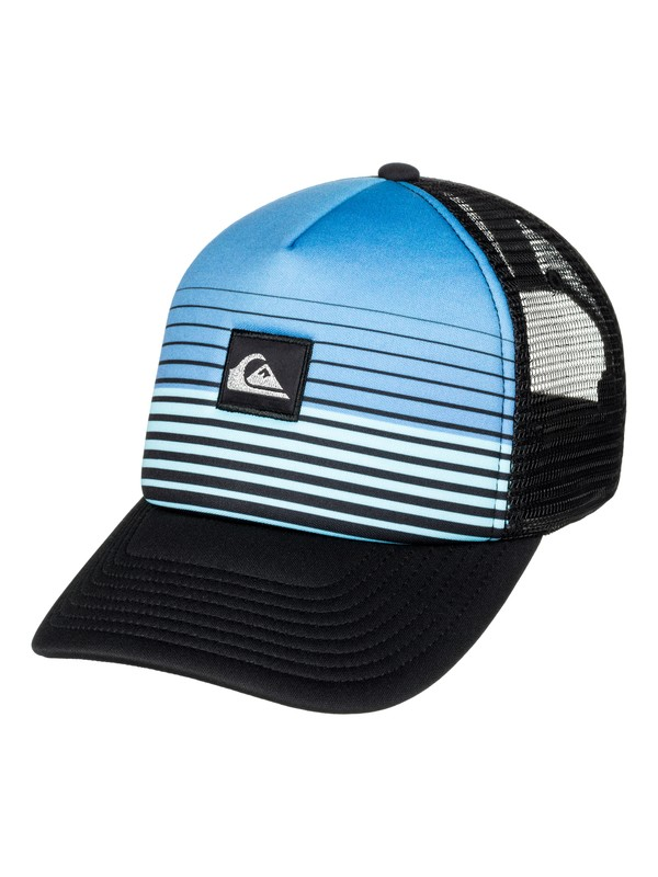 0 Boy's 8-16 Stripe Block Trucker Hat  AQBHA03255 Quiksilver