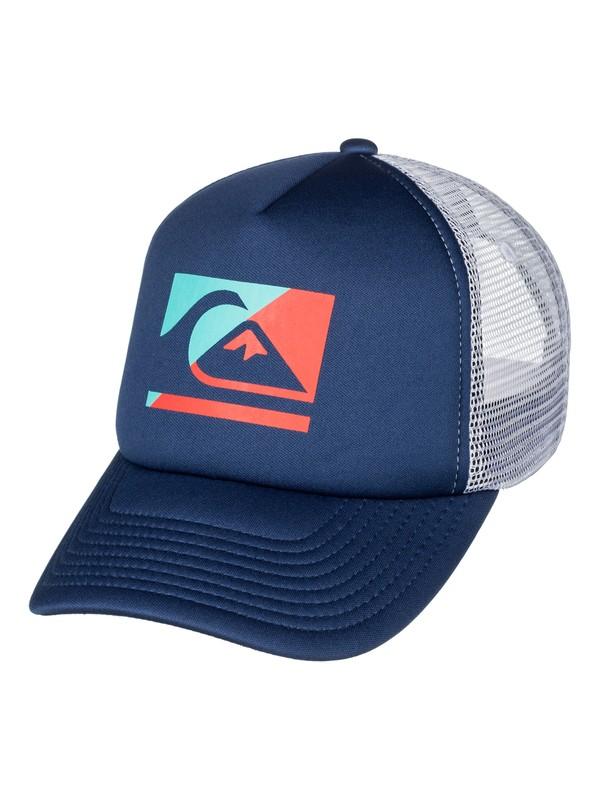 0 Boy's 8-16 Step Off Trucker Hat  AQBHA03256 Quiksilver