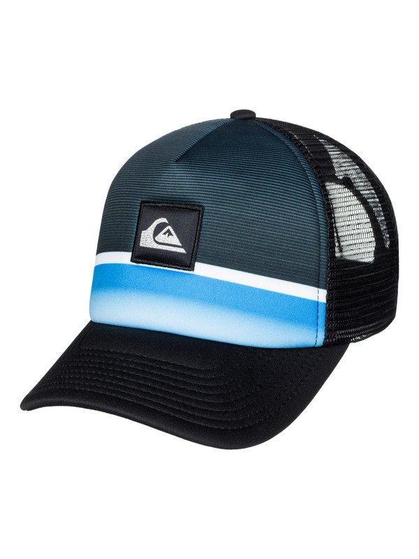 0 Boy's 8-16 Stripe Downer Trucker Hat  AQBHA03266 Quiksilver