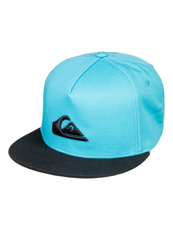 0 Boy's 8-16  Stuckles Snapback Hat Blue AQBHA03282 Quiksilver
