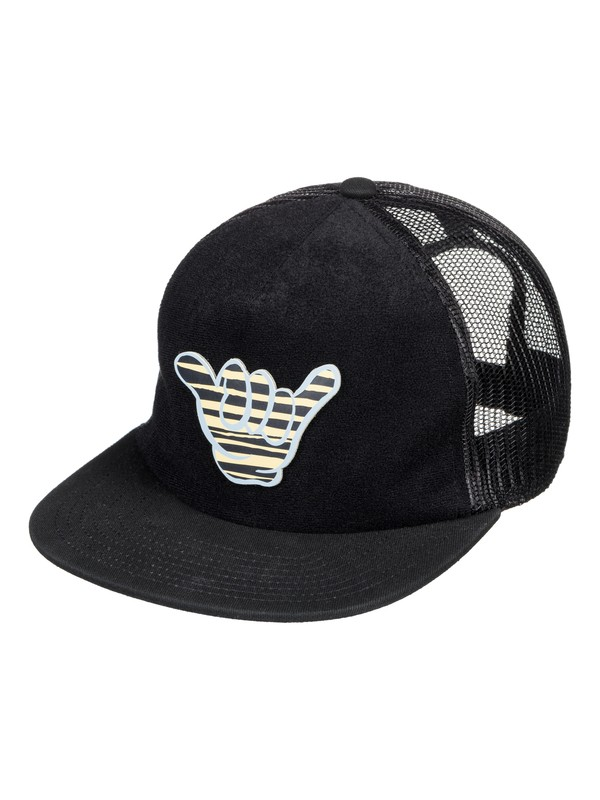 0 Swaggles - Cappellino Trucker Black AQBHA03300 Quiksilver
