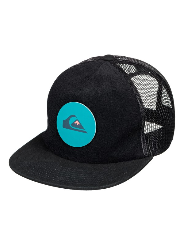 0 Swaggles - Trucker Cap for Boys 8-16 Black AQBHA03300 Quiksilver