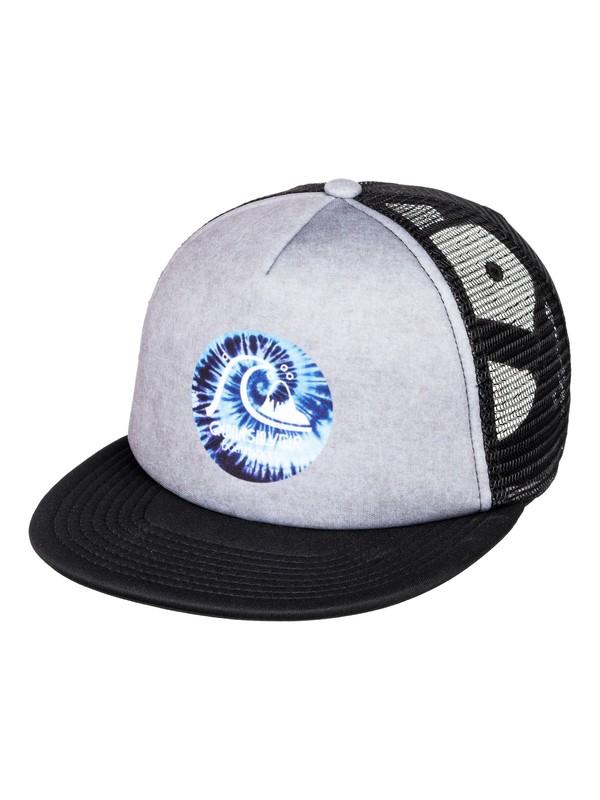 0 Boy's 8-16 Hip Trippy Trucker Hat Grey AQBHA03315 Quiksilver