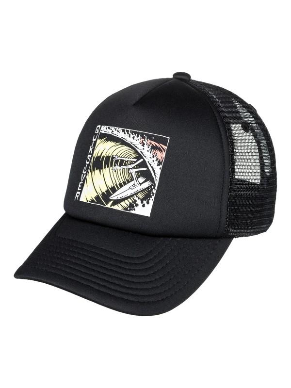 0 Boy's 8-16 Corgi Trucker Hat Black AQBHA03319 Quiksilver