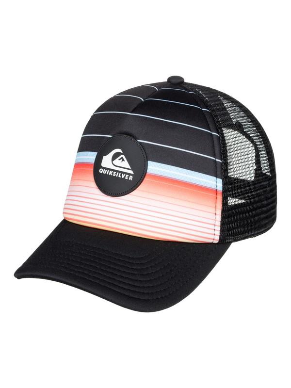 0 Boy's 8-16 Highline Swell Trucker Hat Black AQBHA03320 Quiksilver
