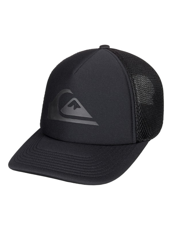 0 Boy's 8-16 All Bent Up Trucker Hat Black AQBHA03345 Quiksilver