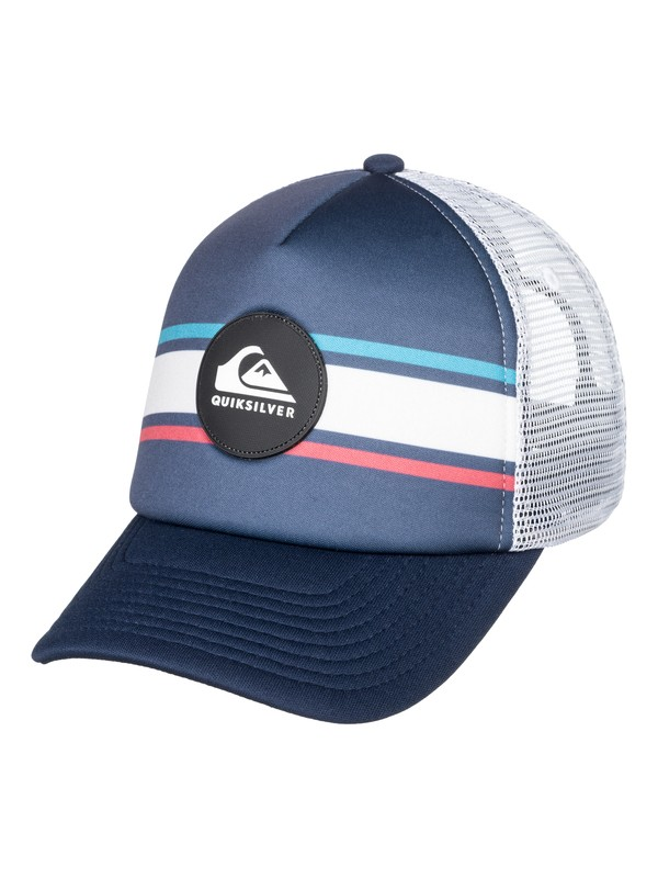 0 Boy's 8-16 Seasons Debate Trucker Hat Blue AQBHA03350 Quiksilver