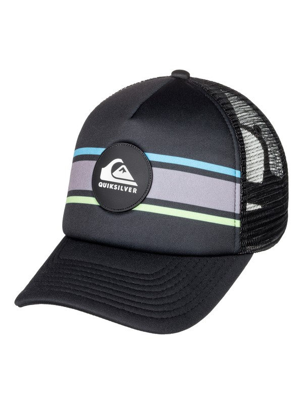 0 Boy's 8-16 Seasons Debate Trucker Hat Black AQBHA03350 Quiksilver