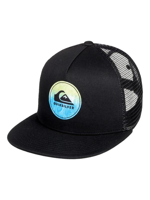 0 Boy's 8-16 Bombastic Trucker Hat Black AQBHA03354 Quiksilver