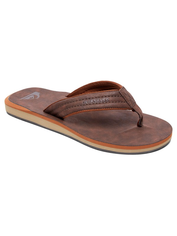 0 Boy's 8-16 Carver Nubuck Sandals Brown AQBL100020 Quiksilver
