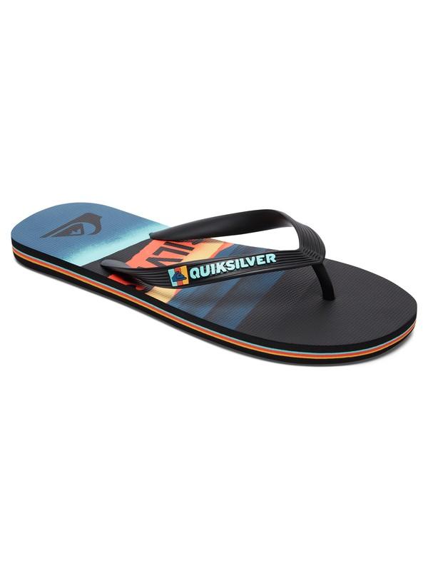 0 Boy's 8-16 Molokai Slash Logo Sandals  AQBL100230 Quiksilver