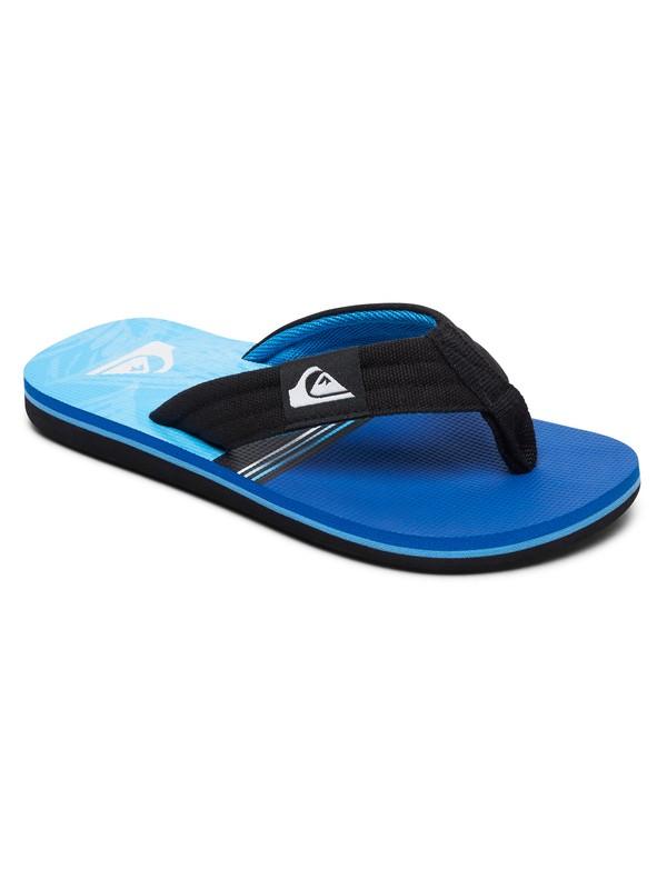 0 Boy's 8-16 Molokai Layback Sandals Black AQBL100261 Quiksilver